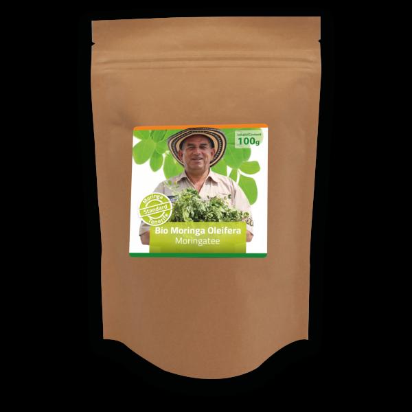 Standard: 100g organic Moringa as tea
