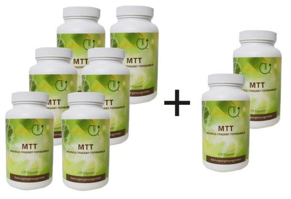 2 für 1: MTT-Kapseln - Jahresration 6 Dosen + 2 gratis
