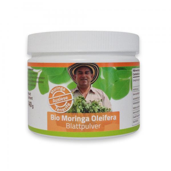 Auslese: feinstes Bio Moringa Blattpulver